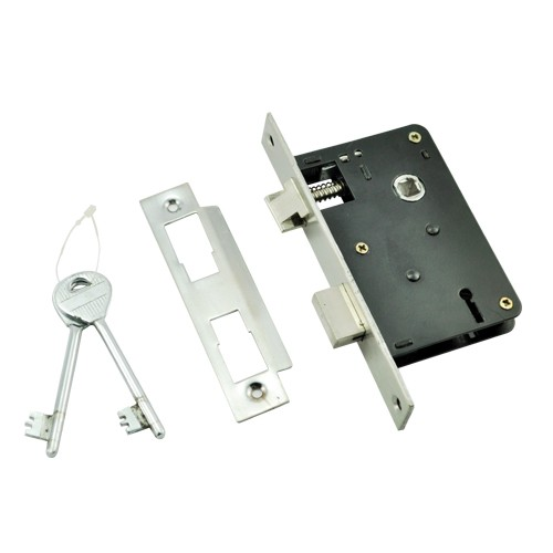 57mm SS Mortise Lock with BB or S/C Keyhole